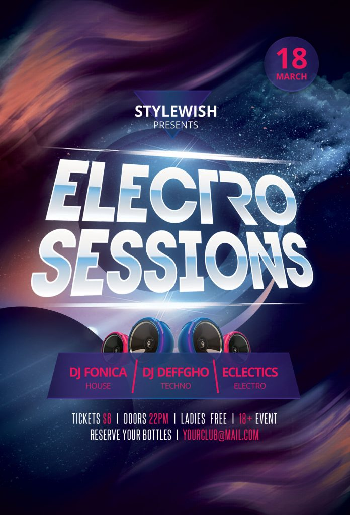 Electro Sessions Flyer Template