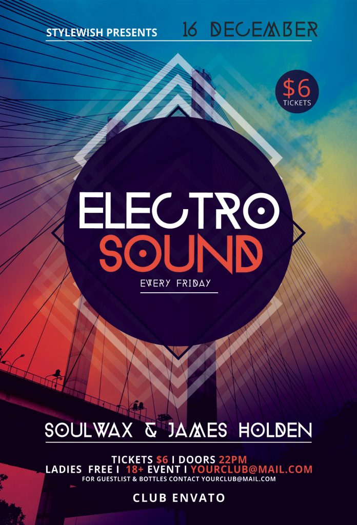Elector Sound Flyer Template