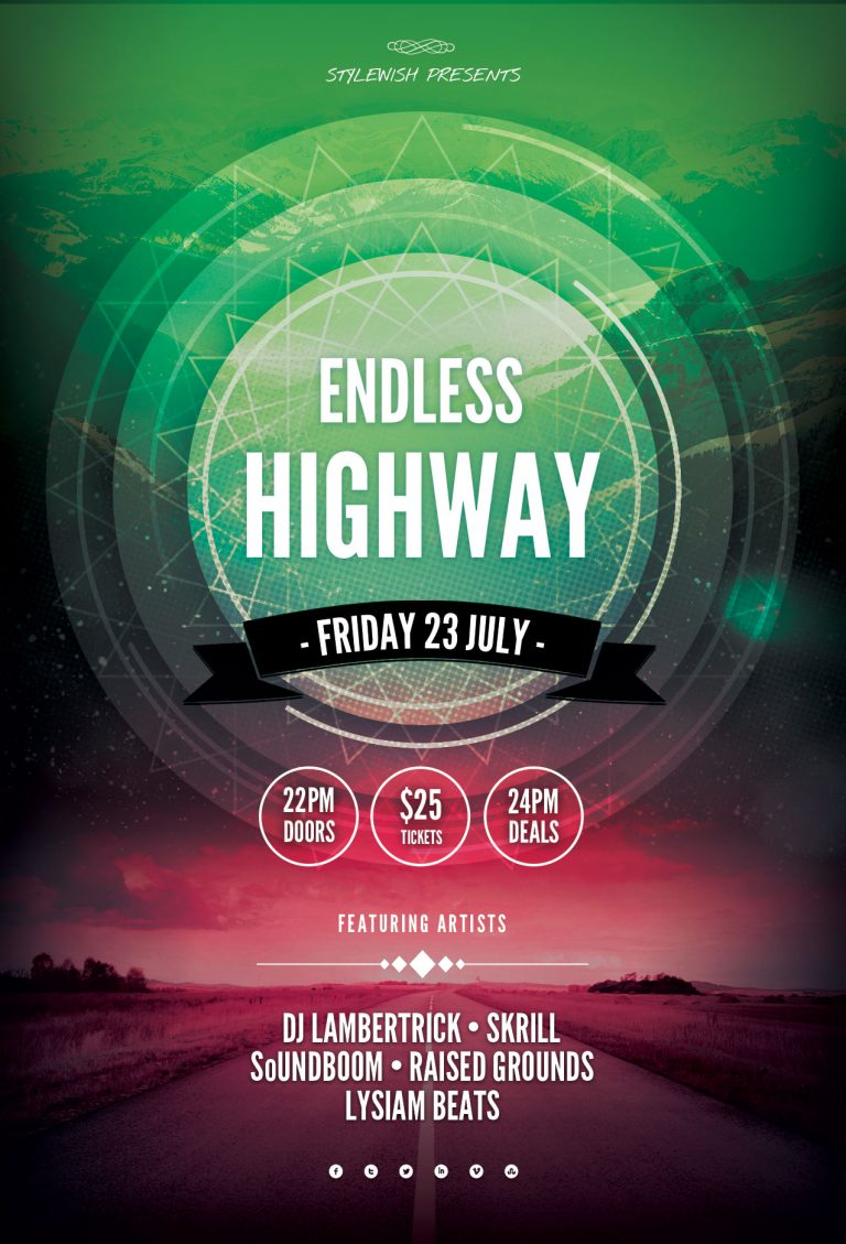 Endless Highway Flyer Template
