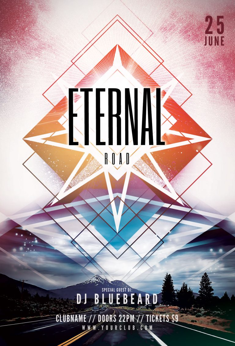 Eternal Road Flyer Template