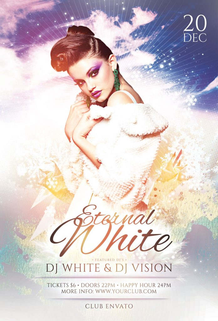 Eternal White Flyer Template