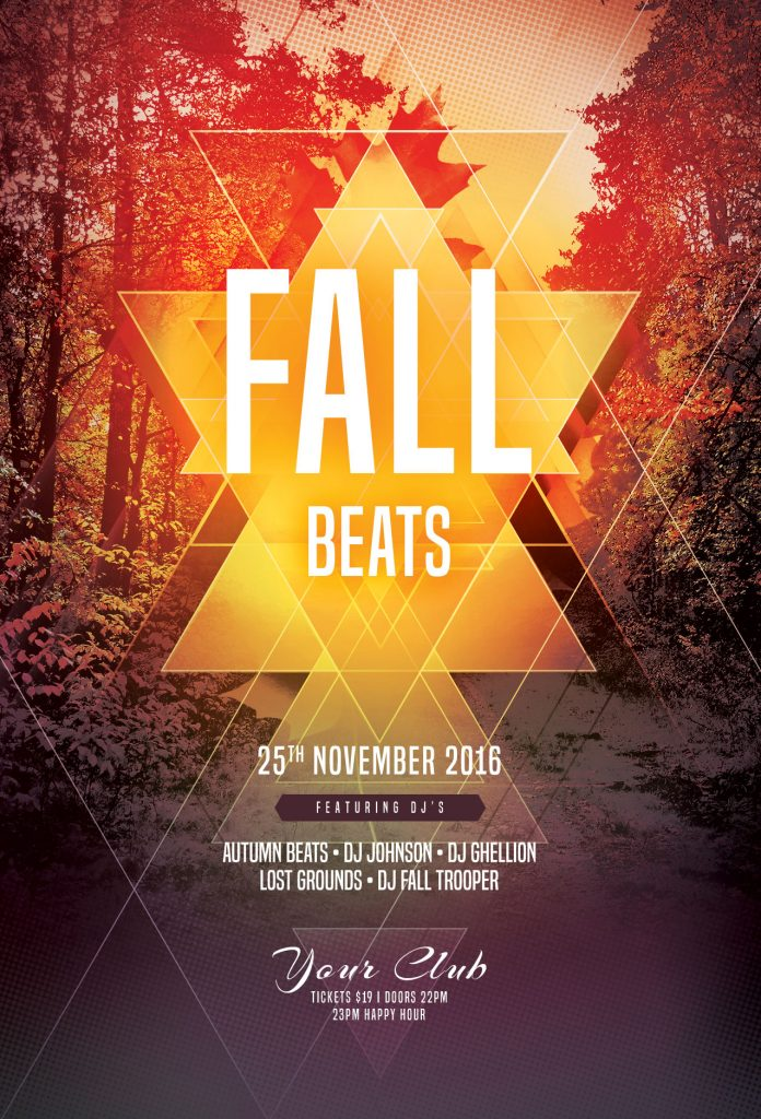 Fall Beats Flyer Template