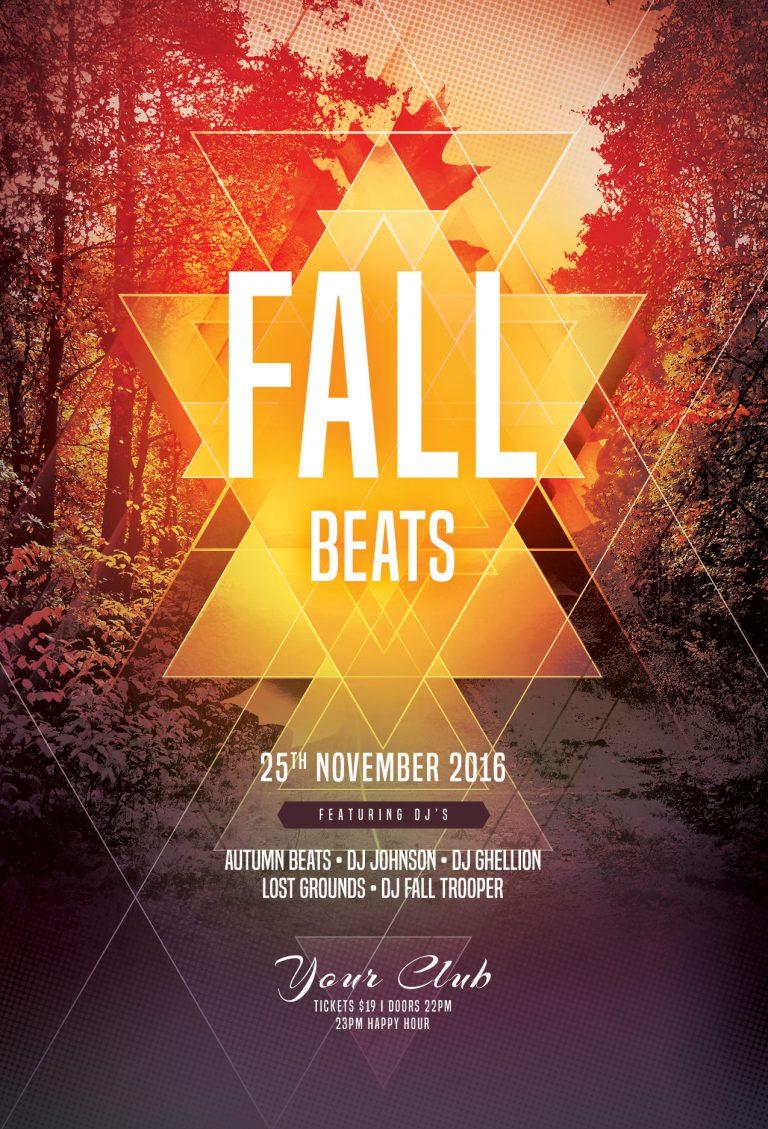 Fall Beats Flyer Template