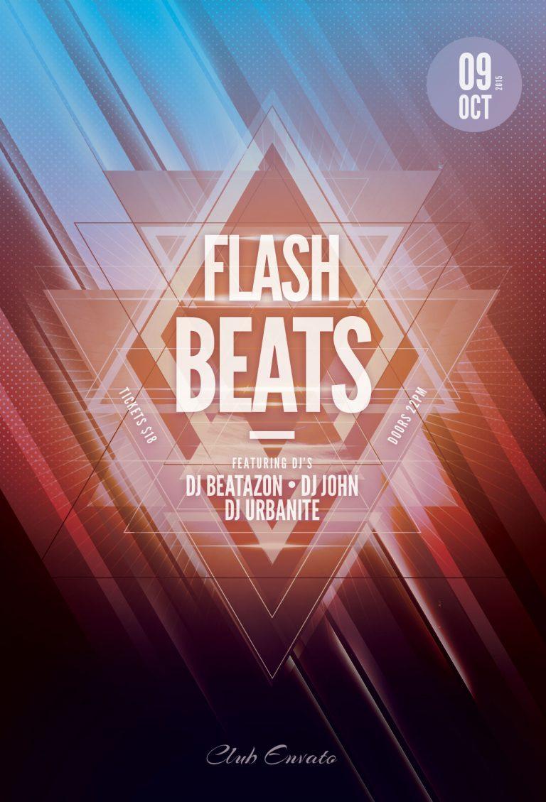 Flash Beats Flyer Template