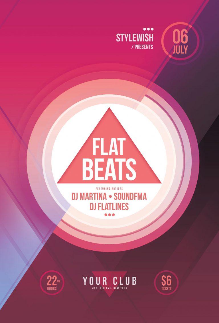 Flat Beats Flyer Template