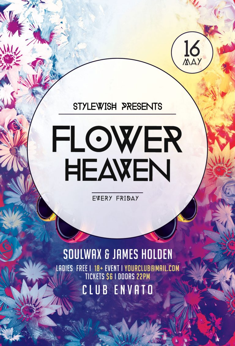 Flower Heaven Flyer Template