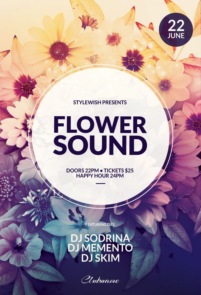 Flower Sound Flyer Template