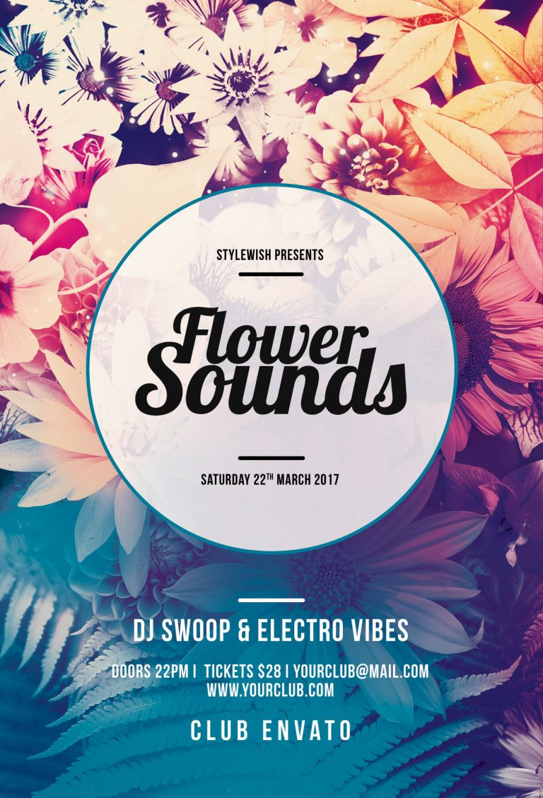 Flower Sounds Flyer Template