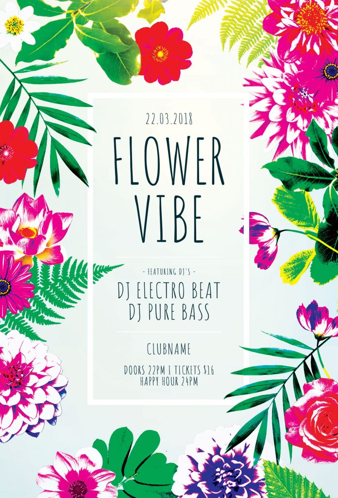 flower Vibe Flyer Template