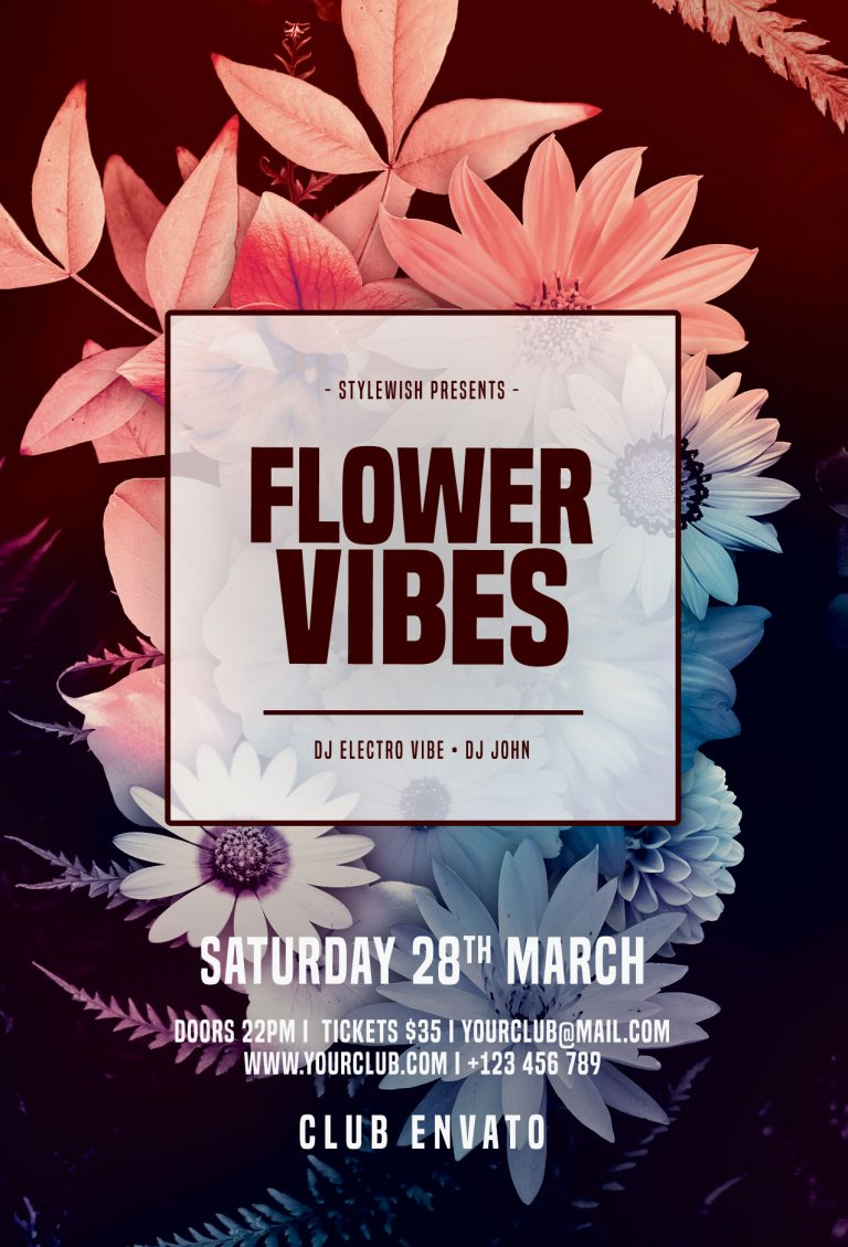 Flower Vibes Flyer Template