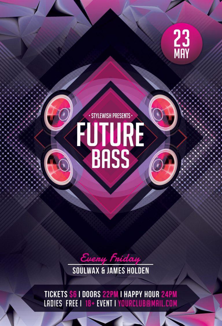 Future Bass Flyer Template