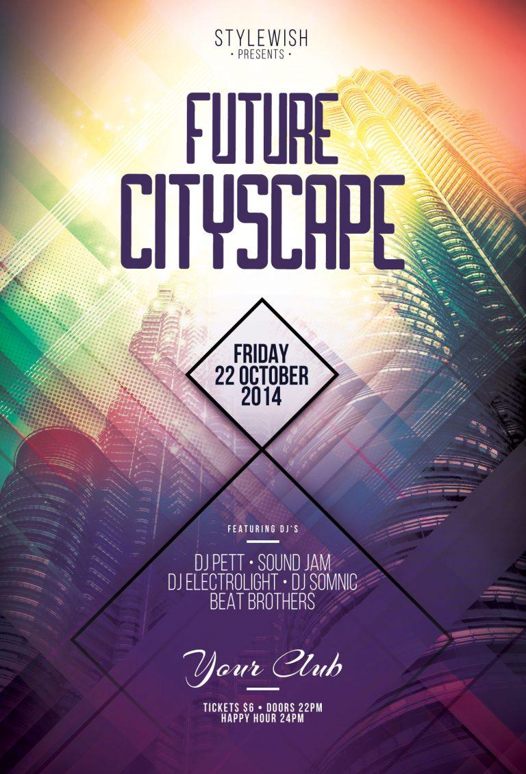 Future Cityscape Flyer Template