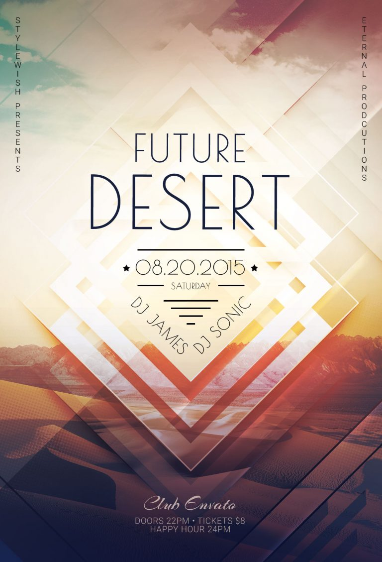 Future Desert Flyer Template