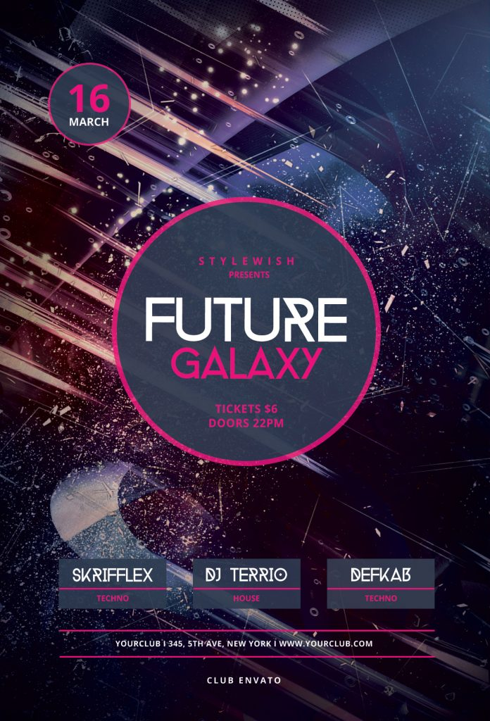Future Galaxy Flyer Template