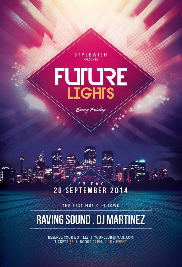Future Lights Flyer Template