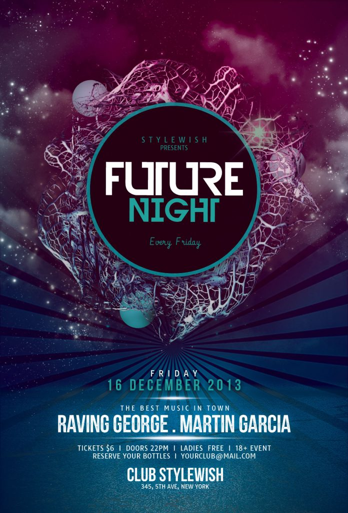 Future Night Flyer Template