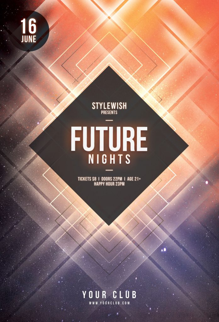 Future Nights Flyer Template