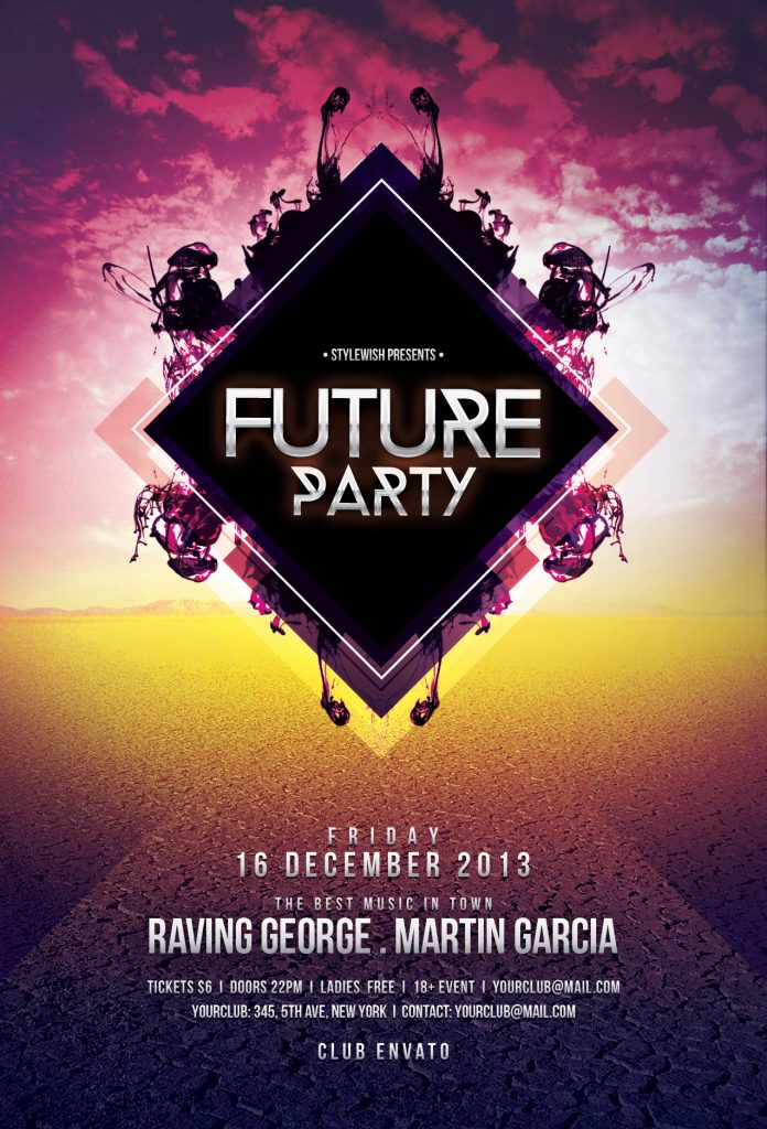 Future Party Flyer Template