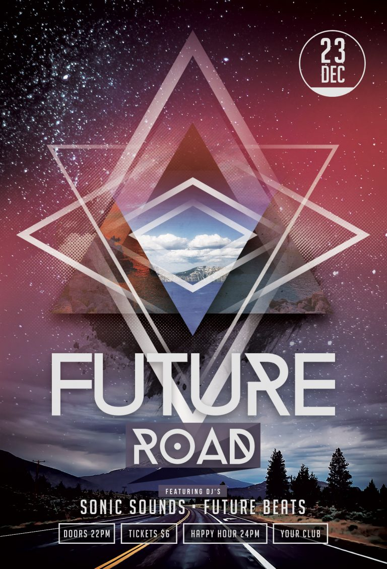 Future Road Flyer Template