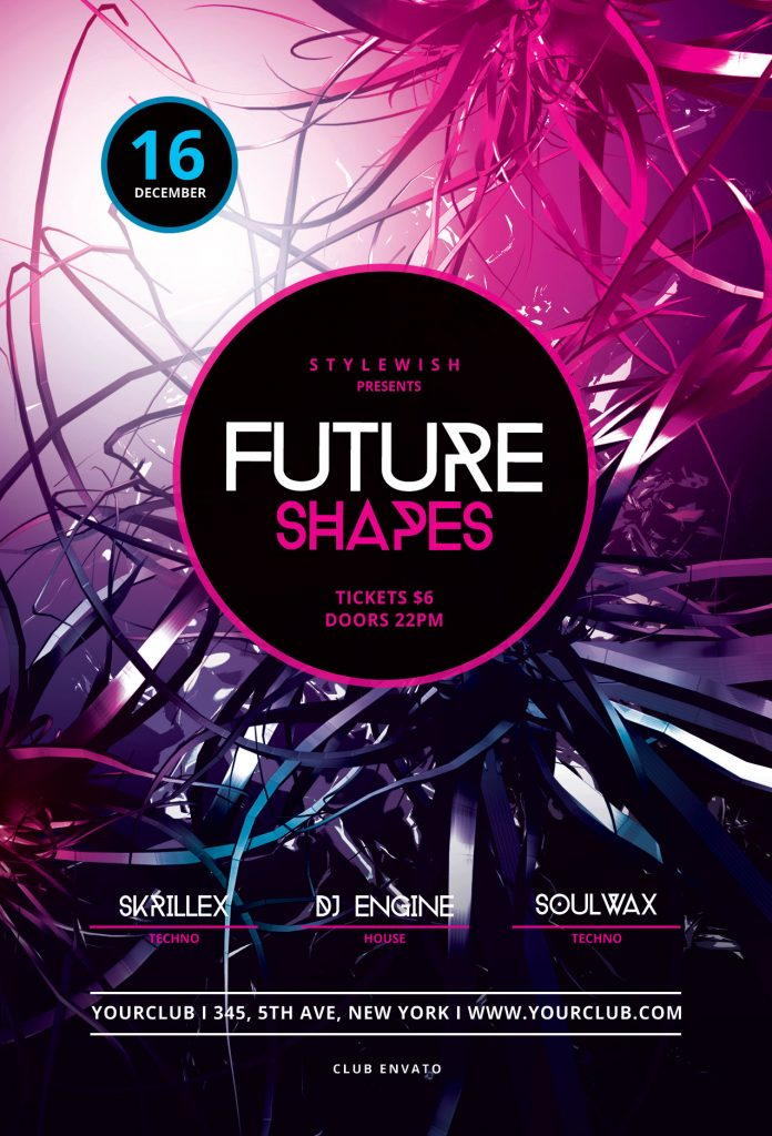 Future Shapes Flyer Template