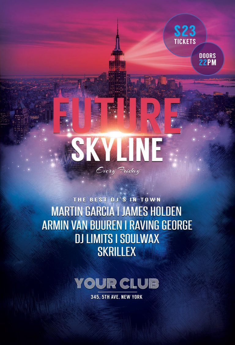 Future Skyline Flyer Template