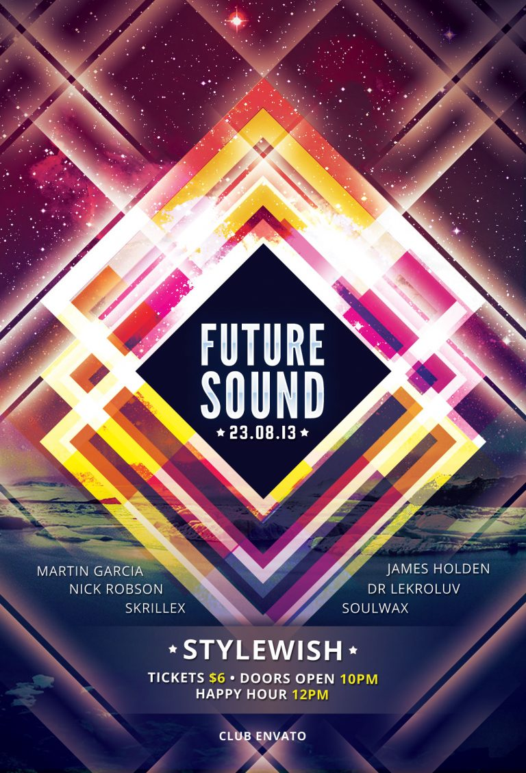 Future Sound Flyer Template