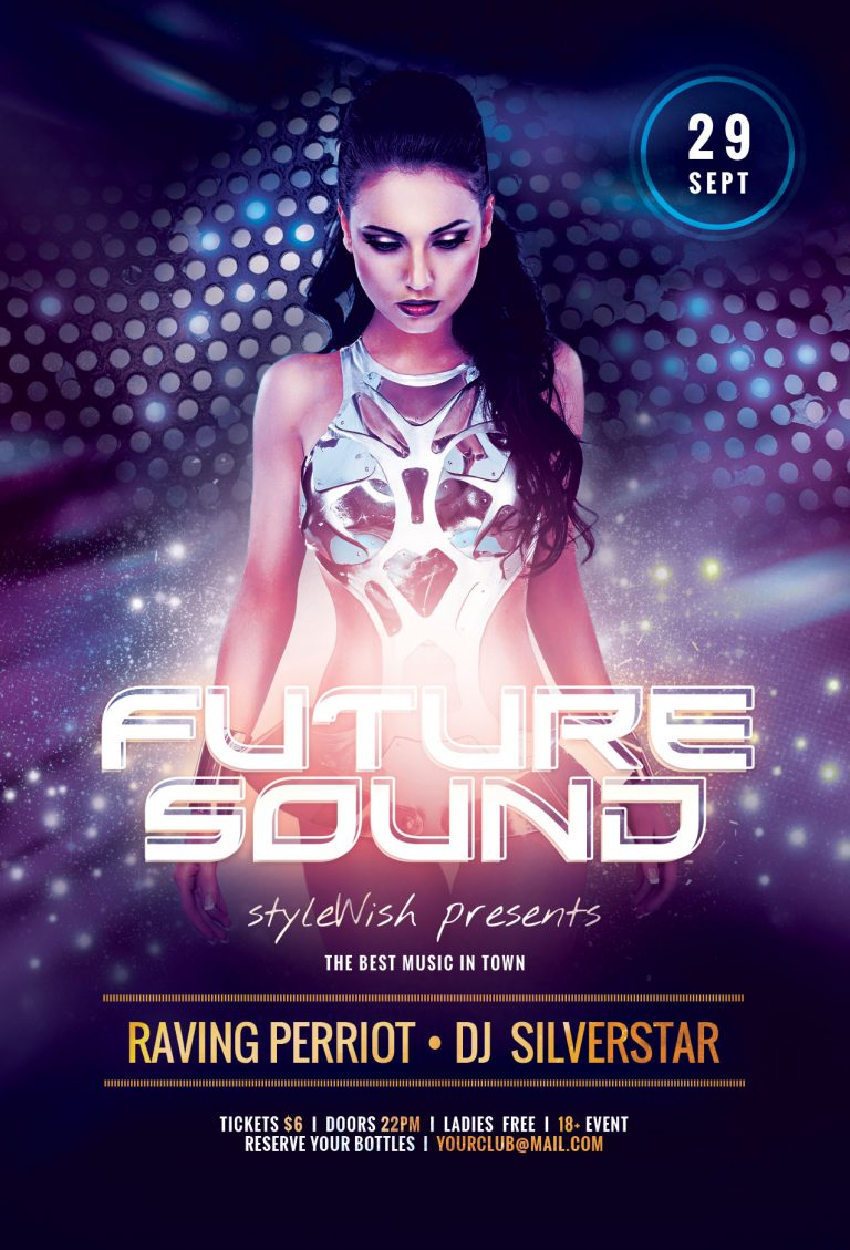 Future Sound Party Flyer Template