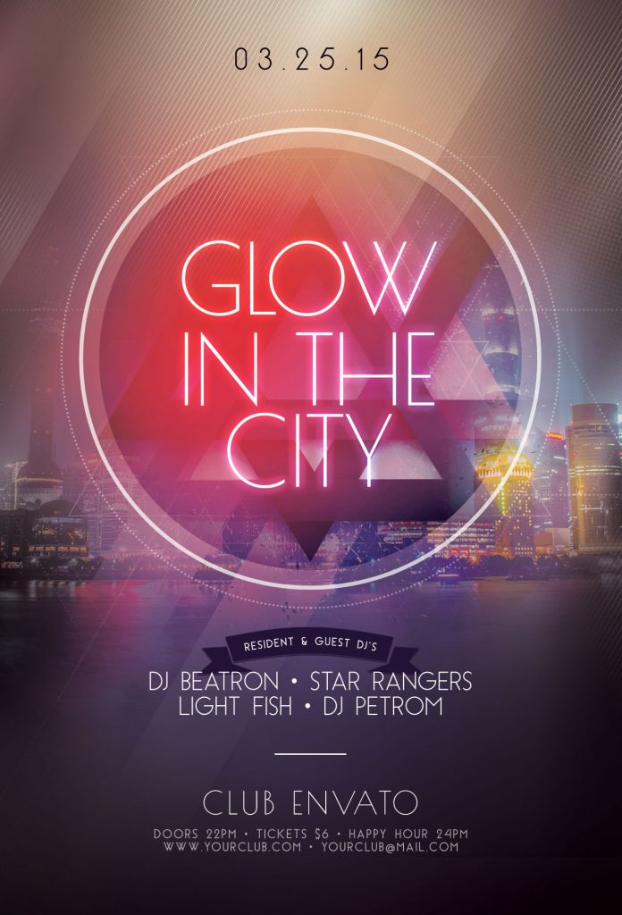 Glow In The City Flyer Template