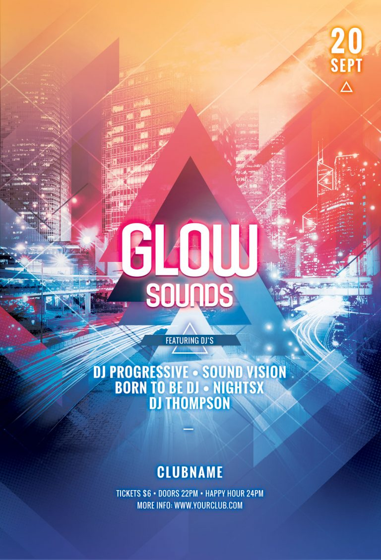 Glow Sounds Flyer Template