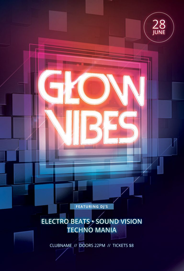 Glow Vibes Flyer Template