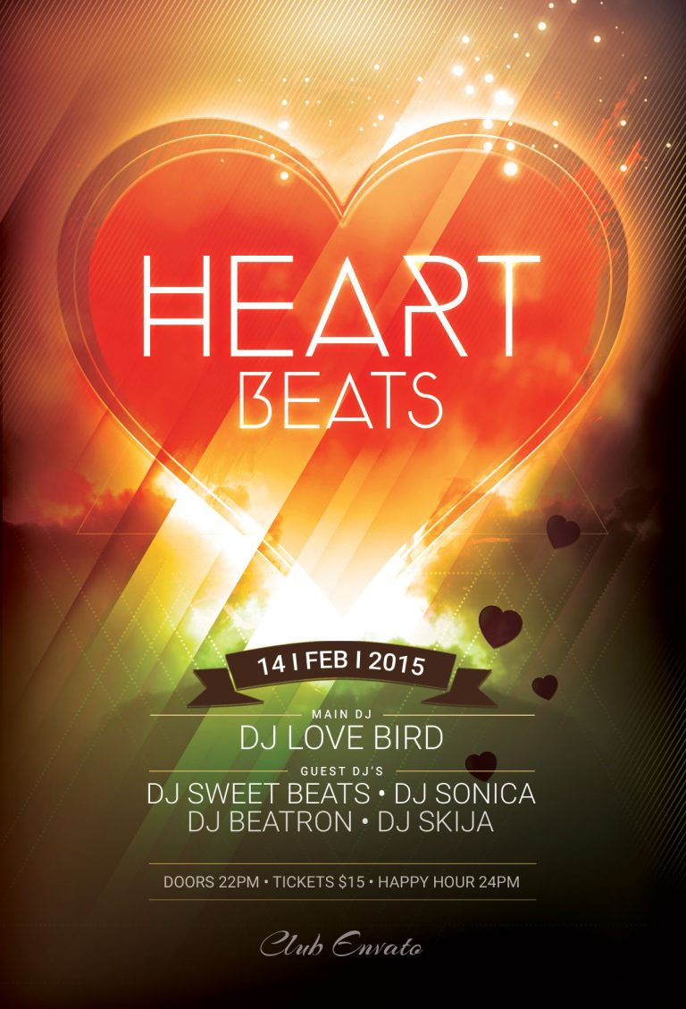 Heart Beats Flyer Template