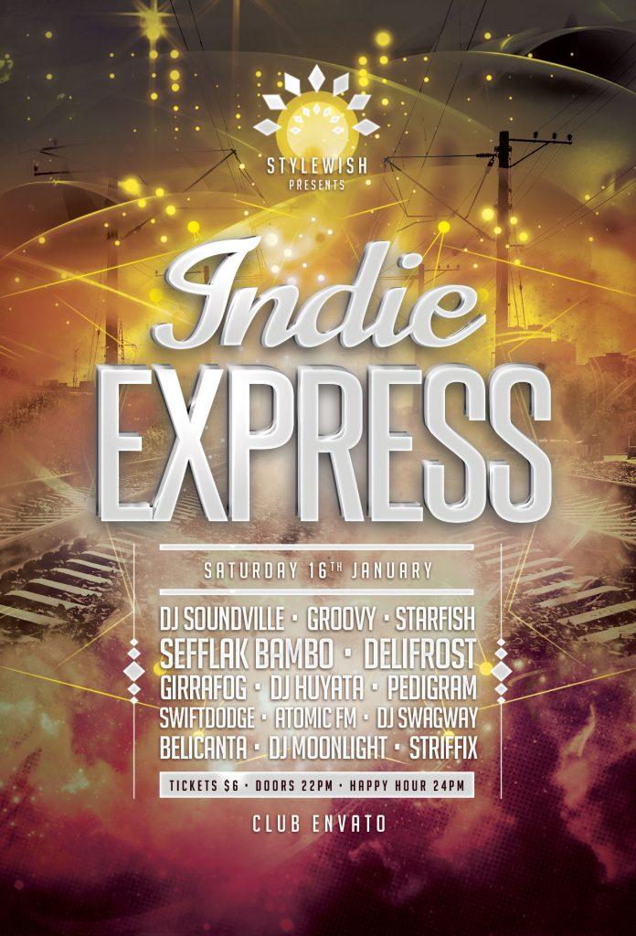 Indie Express Flyer Template