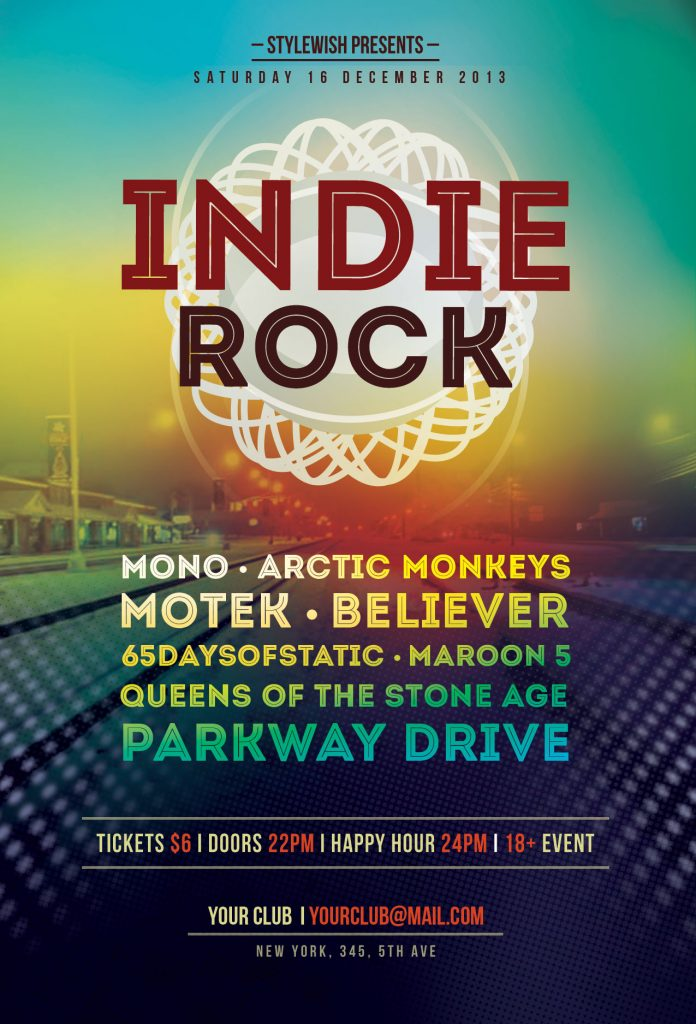 Indie Rock Flyer Template