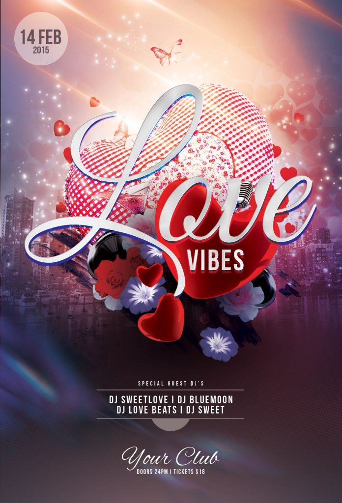 Love Vibes Flyer Template