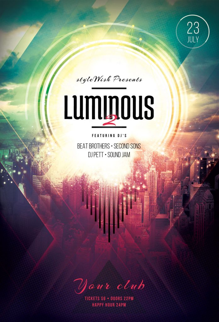 Luminous 2 Flyer Template