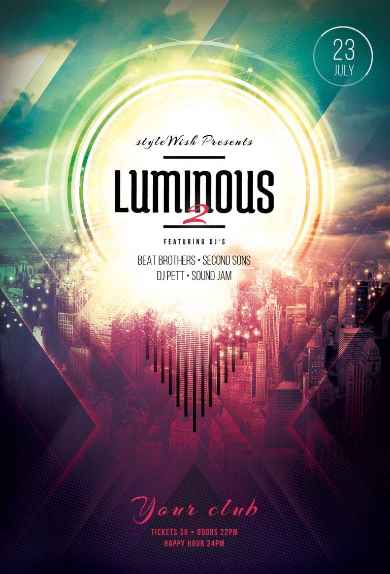 Luminous 2 Flyer Template