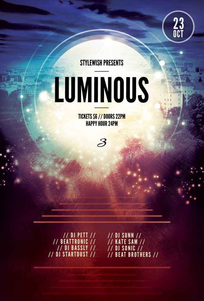 Luminous 3 Flyer Template