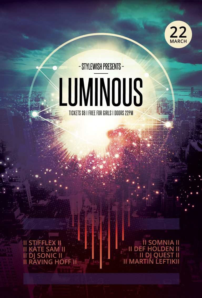 Luminous Flyer Template