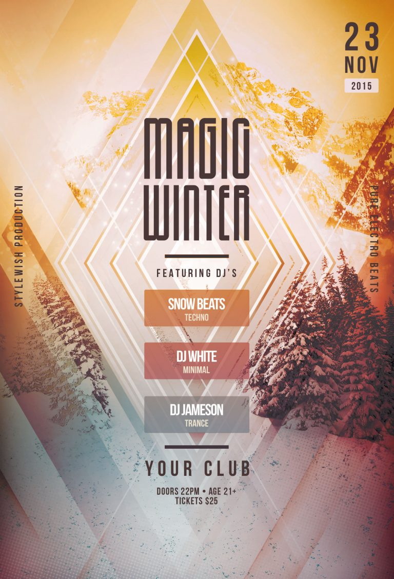 Magic Winter Flyer Template