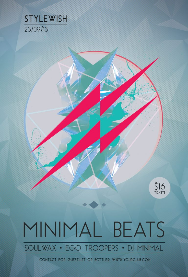 Minimal Beats Flyer Template