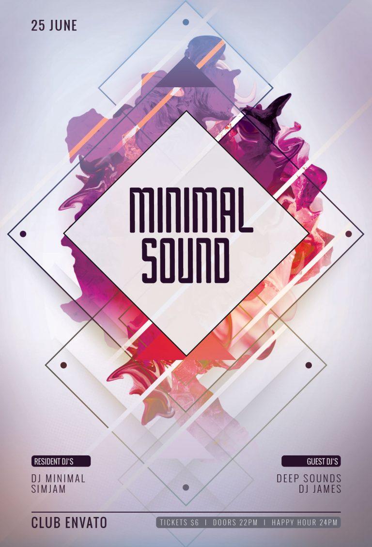 Minimal Sound Flyer Template