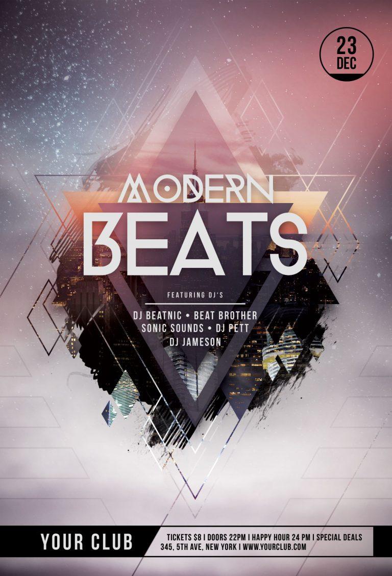 Modern Beats Flyer Template
