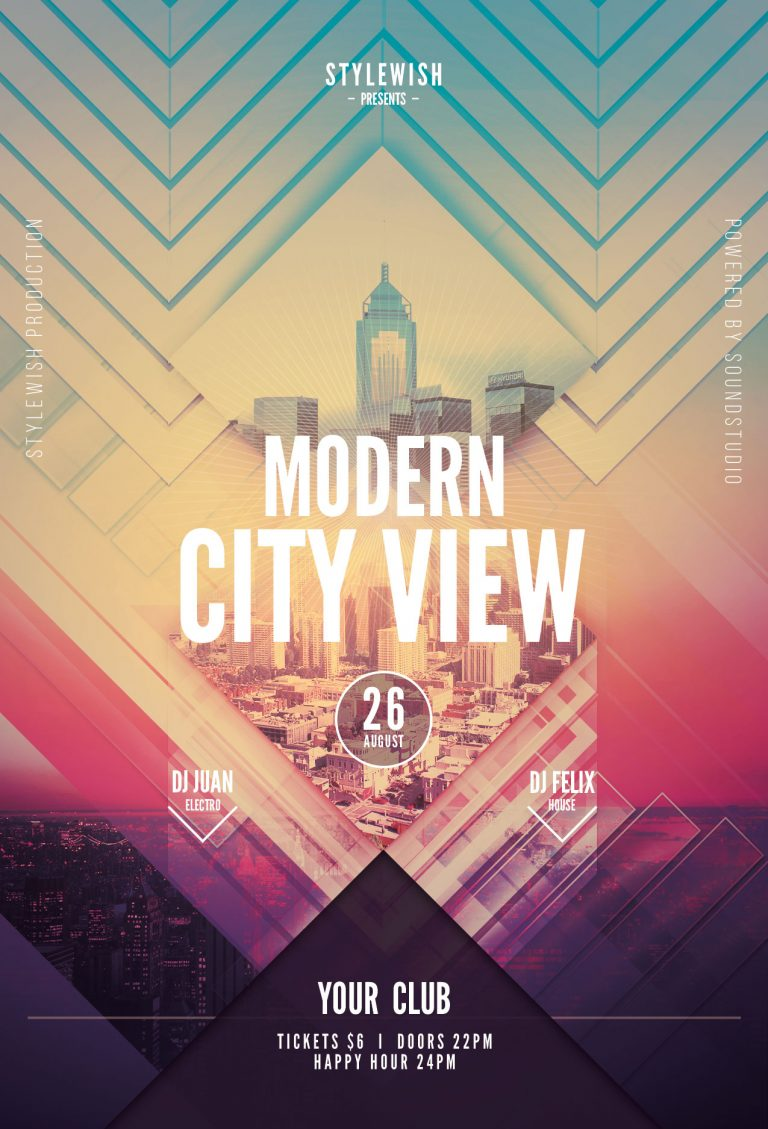 Modern City View Flyer Template