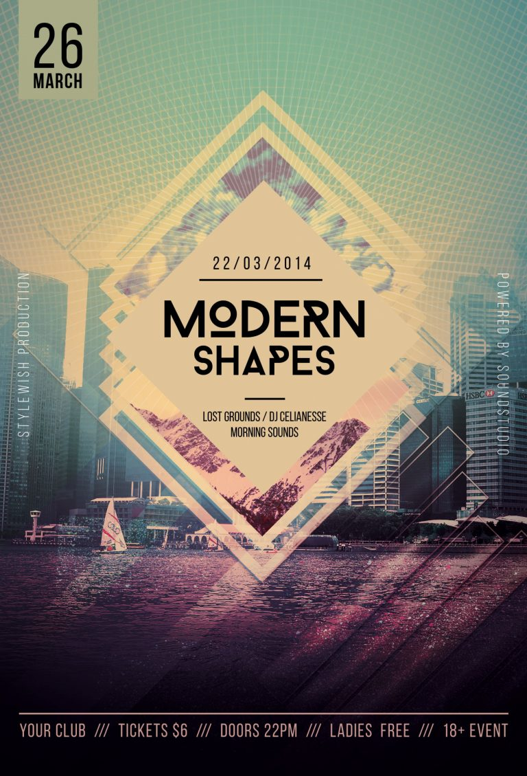 Modern Shapes Flyer Template