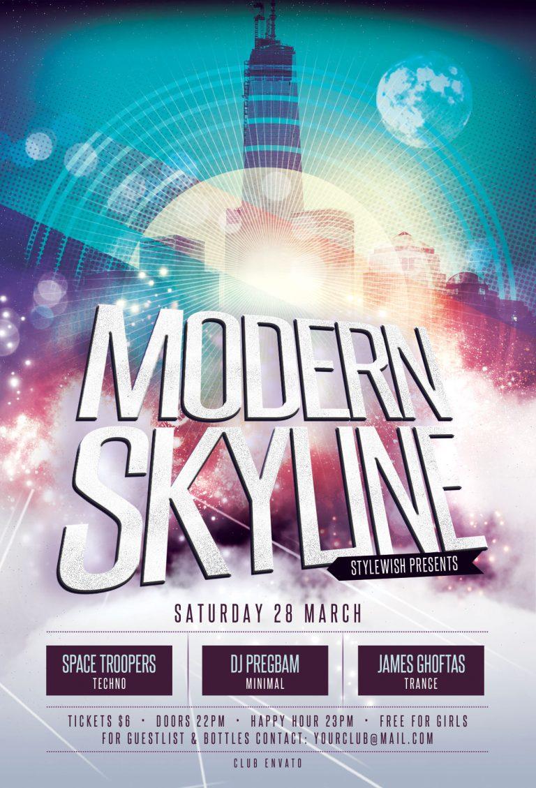Modern Skyline Flyer Template