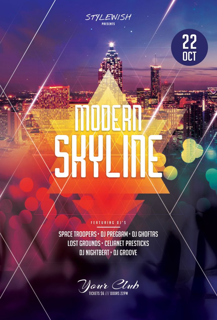 Modern Skyline Flyer Template