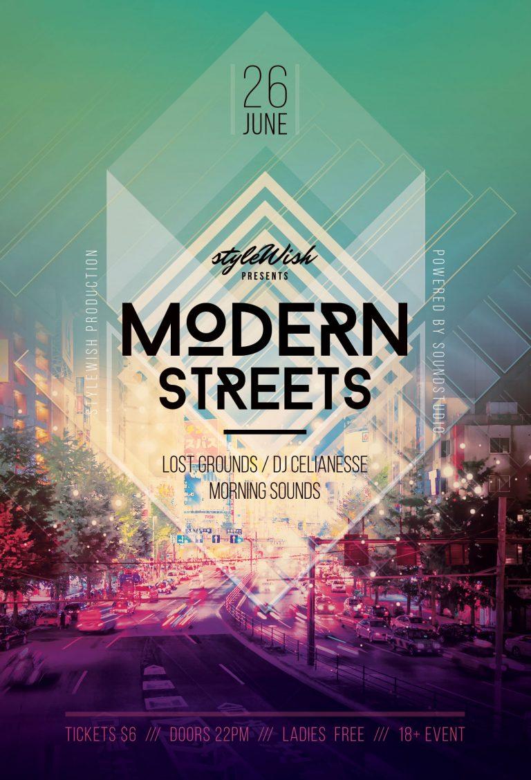 Modern Streets Flyer Template