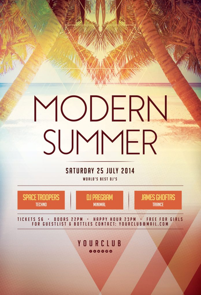 Modern Summer Flyer Template