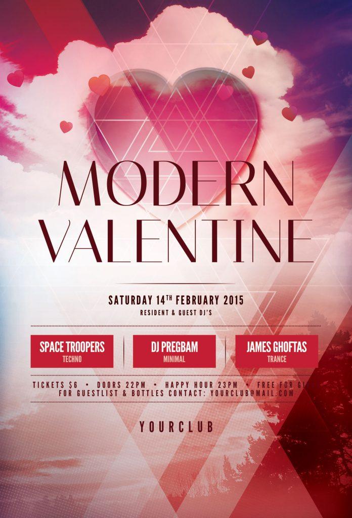 Modern Valentine Flyer Template