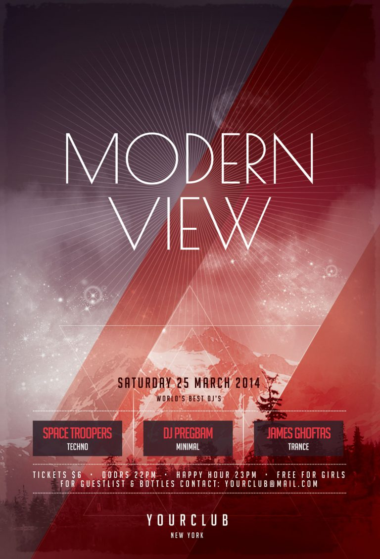 Modern View Flyer Template